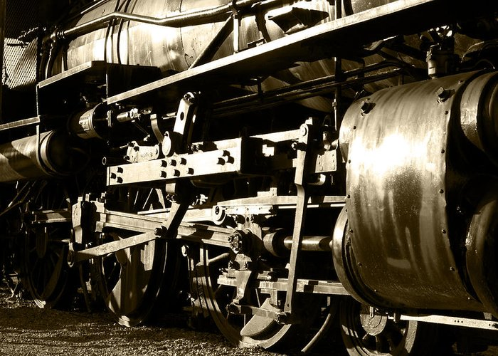 Antique Greeting Card featuring the photograph Steam Power II by Ricky Barnard
