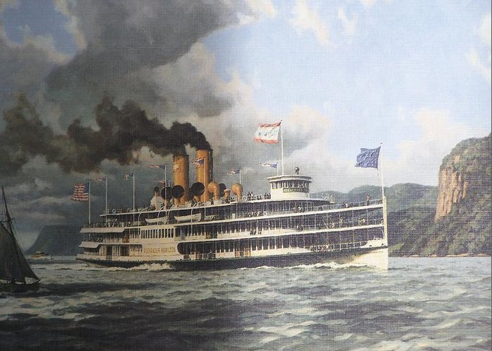 William G Muller Greeting Card featuring the photograph Steamer Alexander Hamilton William G Muller by Jake Hartz