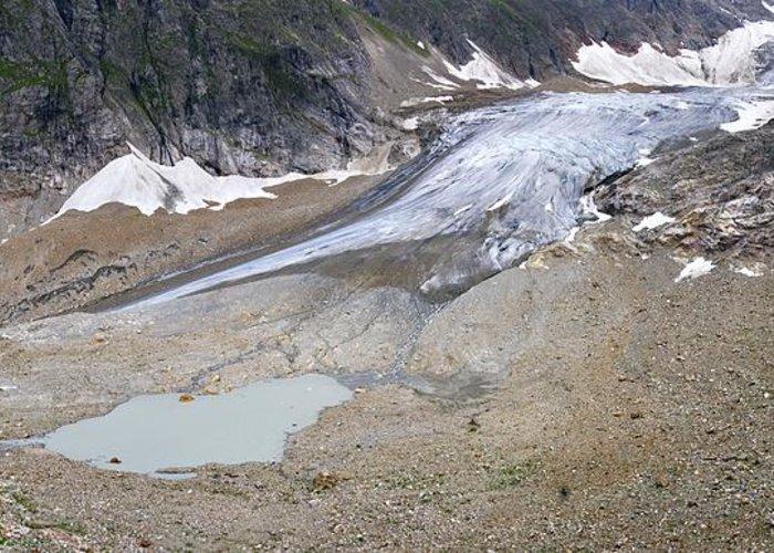 Stein Glacier Greeting Card featuring the photograph Stein Glacier, Switzerland by Dr Juerg Alean