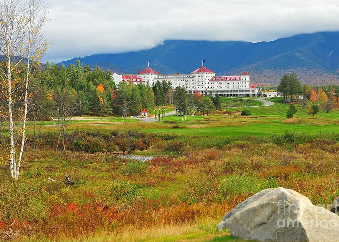 The Mount Washington Hotel Greeting Card featuring the photograph Stickney's Dream by Catherine Reusch Daley