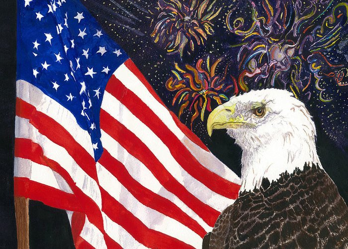 Freedom Greeting Card featuring the painting Still Free by Joy Braverman