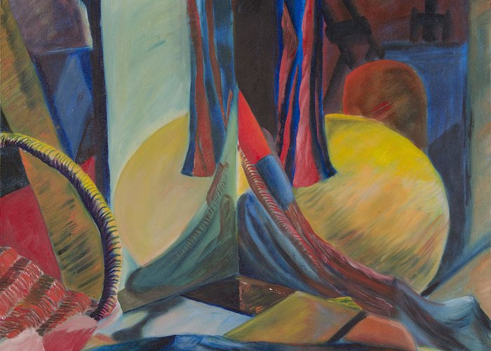 Still Life Greeting Card featuring the painting Still Life A by Sean Koziel