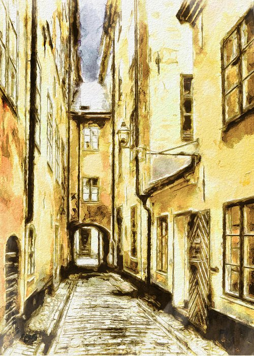 Stockholm Greeting Card featuring the photograph Stockholm Old City by Yury Malkov