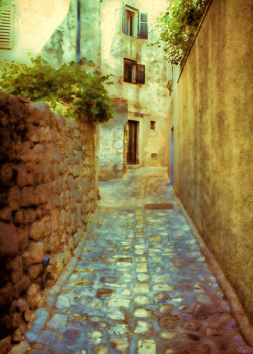 Stone Greeting Card featuring the photograph Stones And Walls by Jasna Buncic