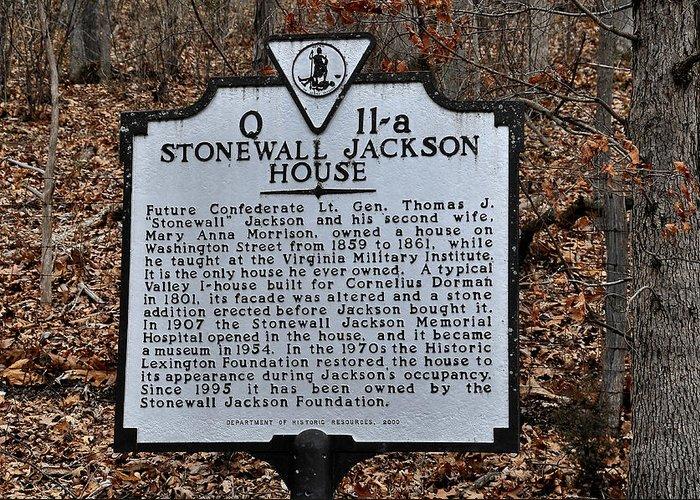 Stonewall Jackson House Greeting Card featuring the photograph Stonewall Jackson House by Todd Hostetter