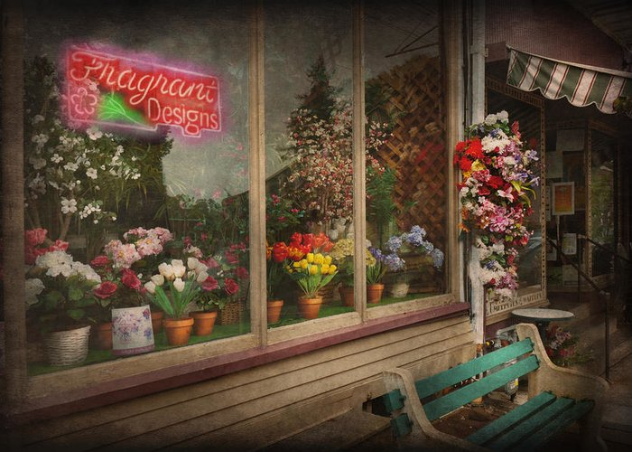 Hdr Greeting Card featuring the photograph Store - Belvidere Nj - Fragrant Designs by Mike Savad