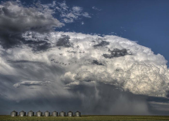 Prairie Greeting Card featuring the photograph Storm Clouds Thunderhead by Mark Duffy