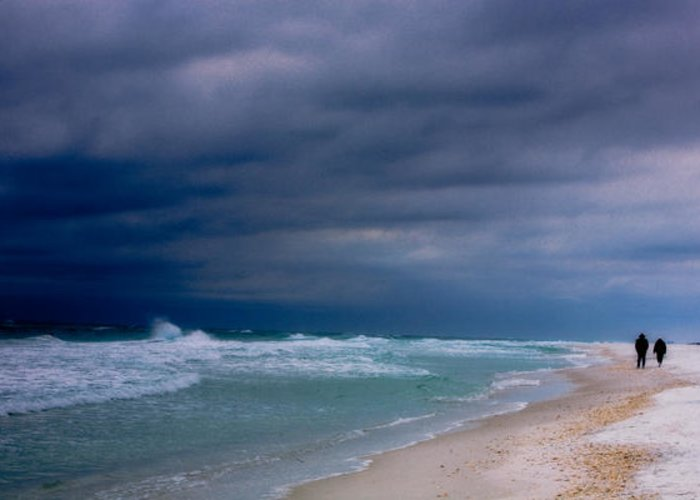 Beach Greeting Card featuring the photograph Storm Coming by Janice M LeCocq