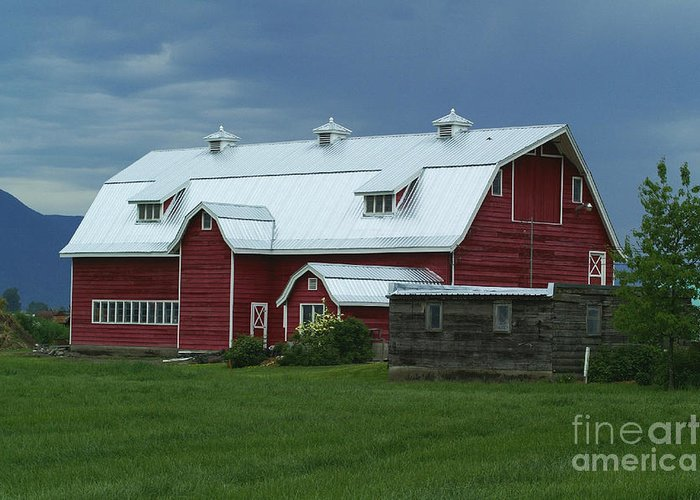 Barns Greeting Card featuring the photograph Stormy Barnyard by Randy Harris