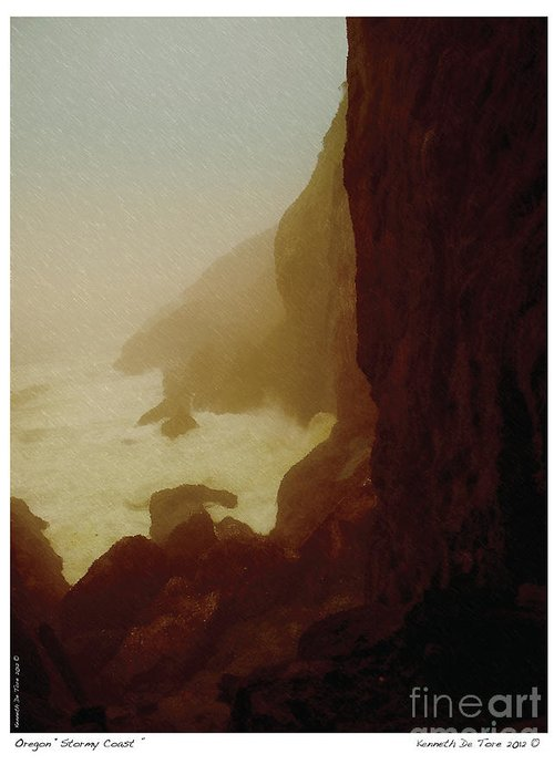 Ken Greeting Card featuring the photograph Stormy Coast by Kenneth De Tore