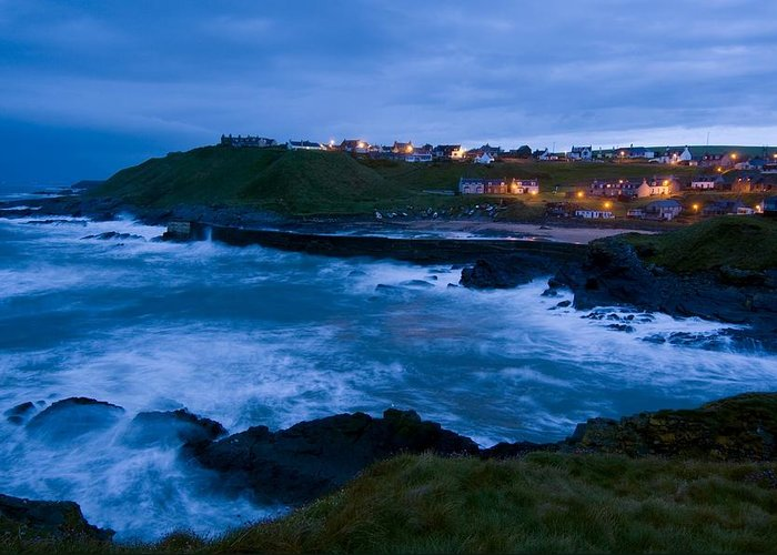 Building Greeting Card featuring the photograph Stormy Coast, Scotland by Duncan Shaw