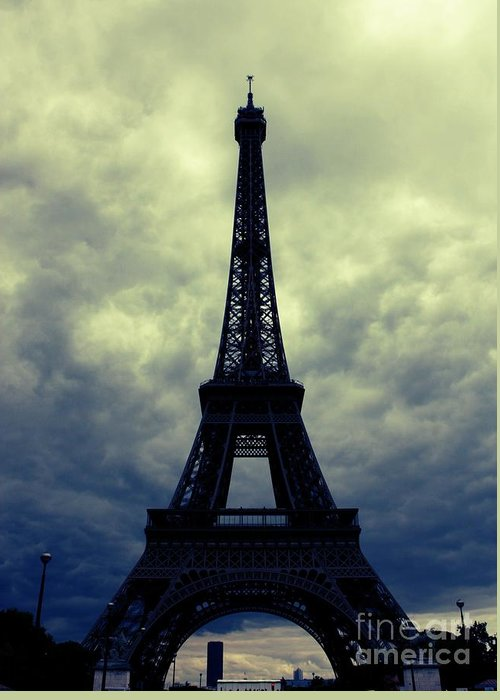 Paris Greeting Card featuring the photograph Stormy Day In Paris by Carol Groenen