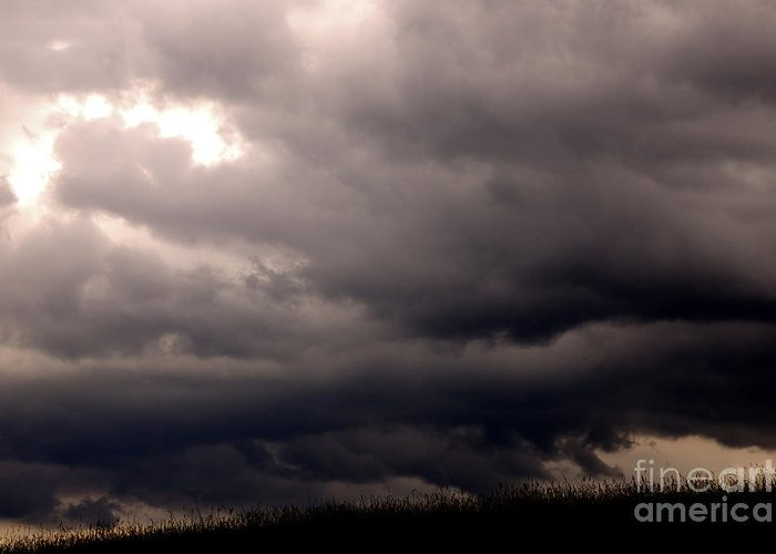 West Virginia Greeting Card featuring the photograph Stormy Sky Over Pasture by Thomas R Fletcher