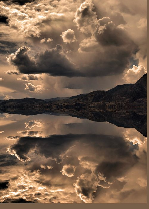 Clouds Greeting Card featuring the photograph Strange Clouds Reflected by Tara Turner