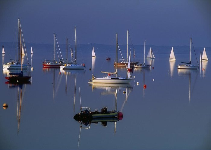 Peaceful Greeting Card featuring the photograph Strangford Lough, Co Down, Ireland by Sici
