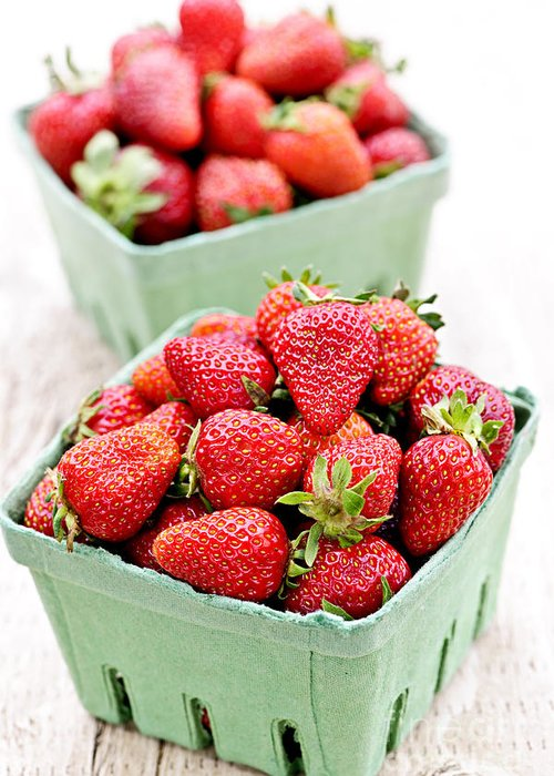 Strawberries Greeting Card featuring the photograph Strawberries by Elena Elisseeva