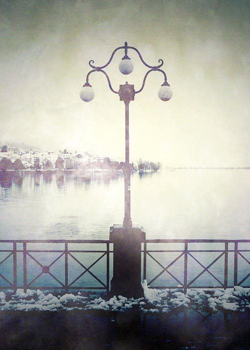 Lantern Greeting Card featuring the photograph Street Lamp by Joana Kruse