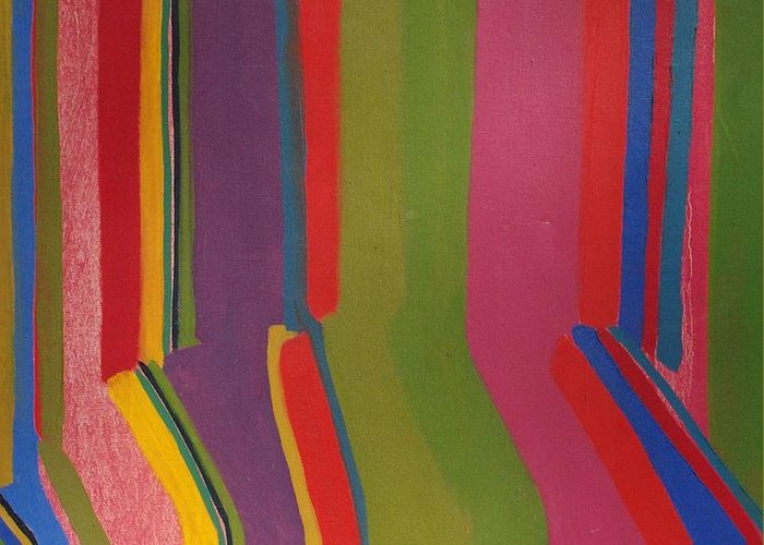 Stripes Greeting Card featuring the painting Stripes by Rick Ahlvers