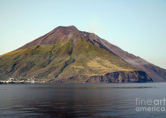 Aeolian Islands Greeting Card featuring the photograph Stromboli Volcano, Aeolian Islands by Richard Roscoe
