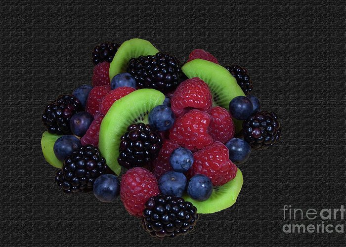 Fruit Greeting Card featuring the photograph Summer Fruit Medley by Michael Waters