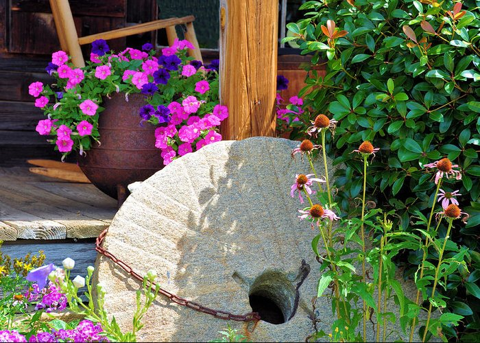Still Life Greeting Card featuring the photograph Summer Millstone by Jan Amiss Photography
