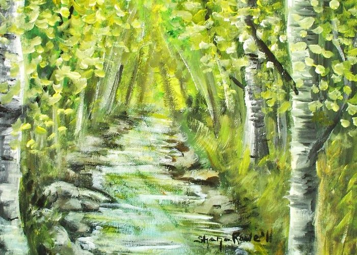 Summer Greeting Card featuring the painting Summer by Shana Rowe Jackson