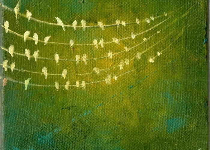 Birds Greeting Card featuring the painting Summer Song by Lisa Stevens