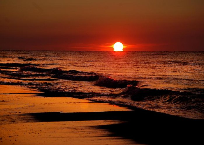 Alabama Photographer Greeting Card featuring the digital art Sun Emerging From The Water by Michael Thomas