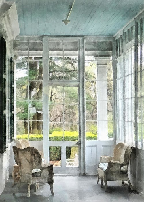 Porch Greeting Card featuring the photograph Sun Porch by Susan Savad