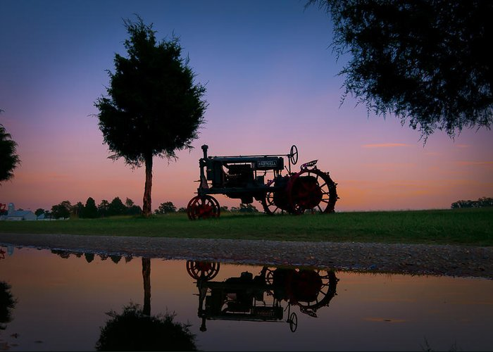 Chippokes Greeting Card featuring the photograph Sundown On Farmall At Chippokes by Williams-Cairns Photography LLC