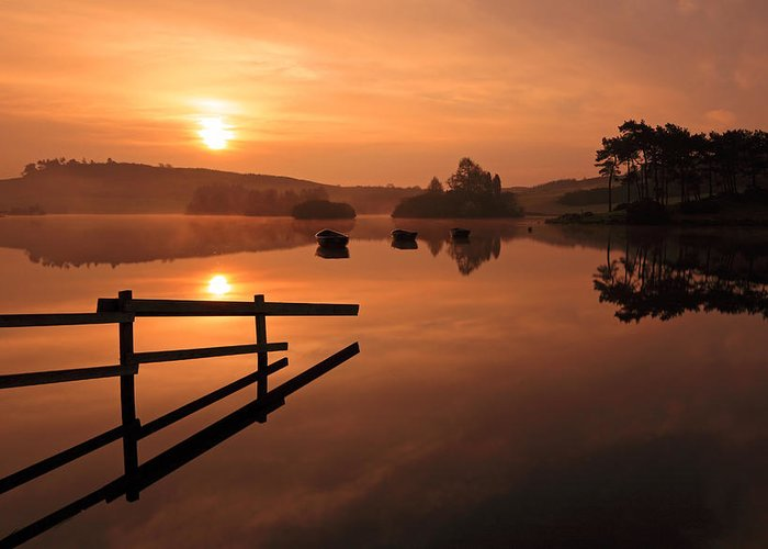 Sunrise Greeting Card featuring the photograph Sunrise At Knapps Loch by Grant Glendinning