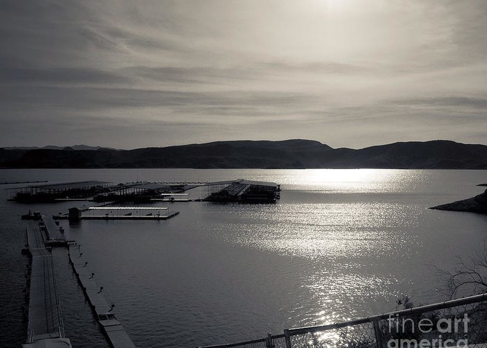 Arne J Hansen Greeting Card featuring the photograph Sunrise Lake Pleasant by Arne Hansen