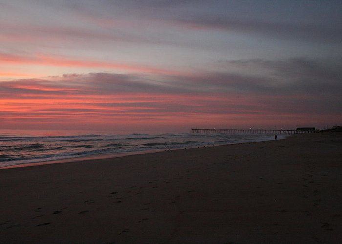 Sunrise Greeting Card featuring the photograph Sunrise Over Obx2 by Andrea Stuart-Bishop