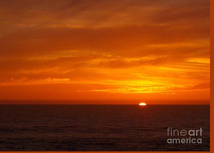 Skyscape Greeting Card featuring the photograph Sunrise by Phil Huettner