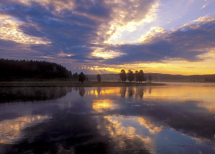 Bronstein Greeting Card featuring the photograph Sunrise Reflections by Sandra Bronstein