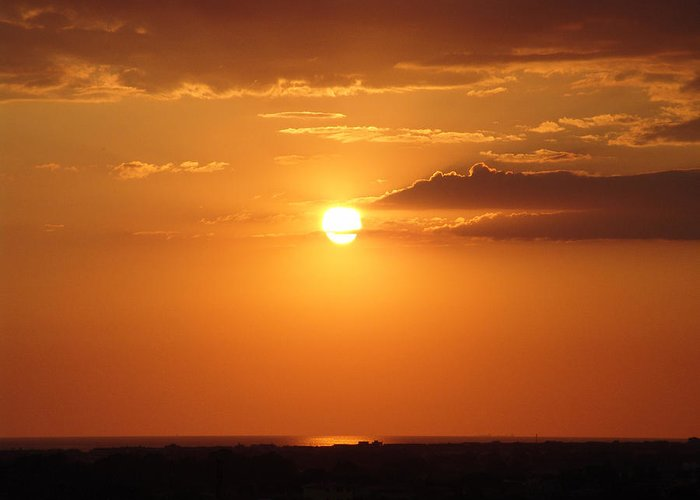 Sunset Greeting Card featuring the photograph Sunset by Alessandro Della Pietra