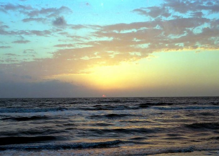 Photography Greeting Card featuring the photograph Sunset Blues by Lynnette Johns