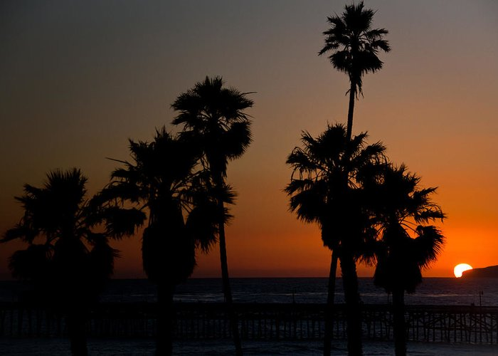 San Clemente Greeting Card featuring the photograph sunset in Califiornia by Ralf Kaiser