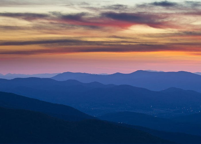 Shenandoah Greeting Card featuring the photograph Sunset In Shenandoah National Park by Pierre Leclerc Photography