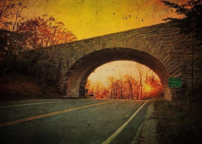 Sunset Greeting Card featuring the photograph Sunset On Blue Ridge Parkway by Kathy Jennings