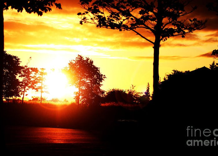 Art Greeting Card featuring the photograph Sunset Soon by Alexander Photography