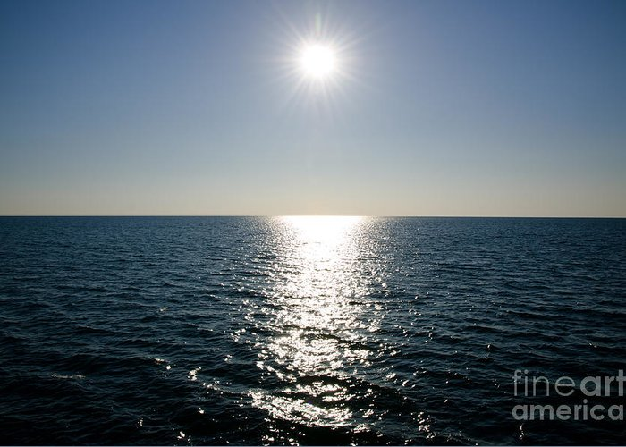 Sun Greeting Card featuring the photograph Sunshine Over The Mediterranean Sea by Mats Silvan