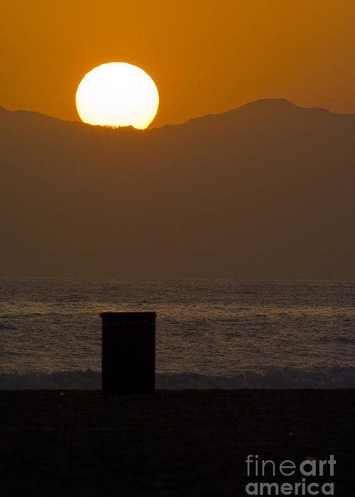 Sunset Greeting Card featuring the photograph Sunst Over Malibu by Micah May