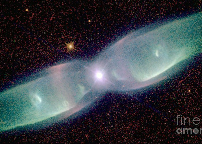 Supersonic Greeting Card featuring the photograph Supersonic Exhaust From Nebula by STScI/NASA/Science Source