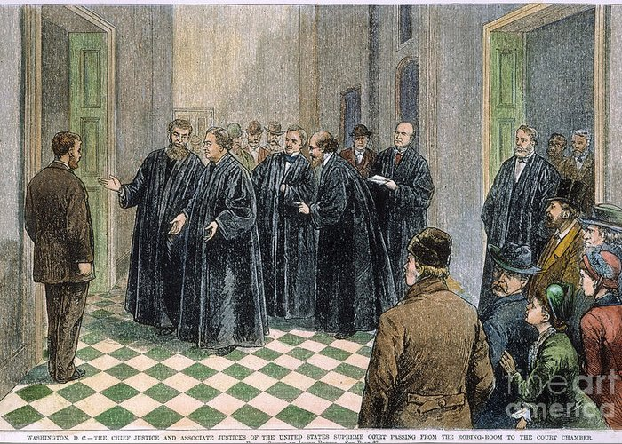1881 Greeting Card featuring the photograph Supreme Court, 1881 by Granger