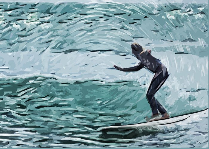 Surfer Dude Greeting Card featuring the photograph Surf by Tilly Williams
