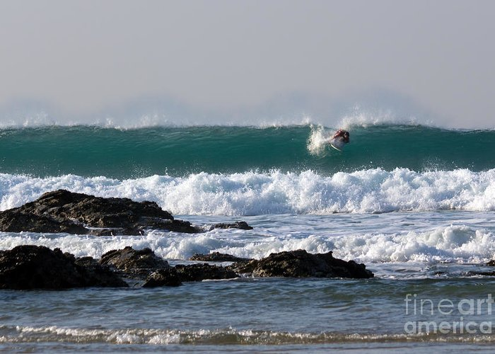 Cornish Seascapes Greeting Card featuring the photograph Surfing In Cornwall by Brian Roscorla