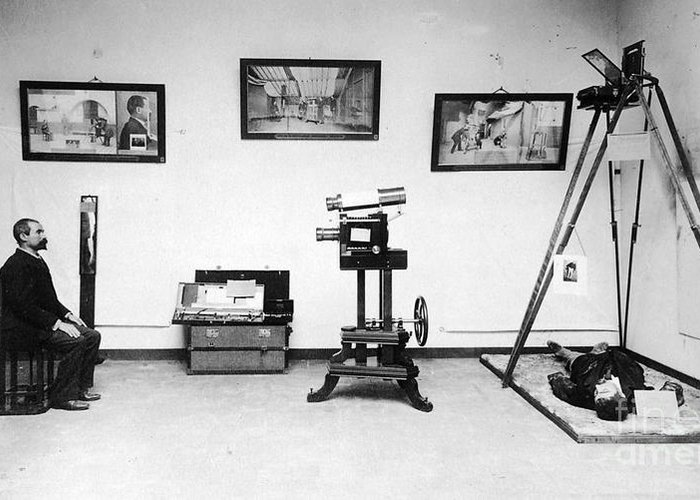 Science Greeting Card featuring the photograph Surveillance Equipment, 19th Century by Science Source