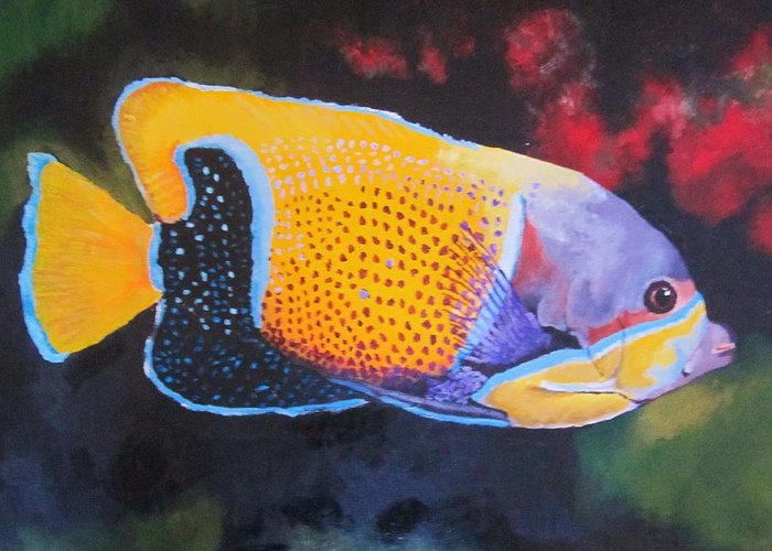 Fish Greeting Card featuring the painting Sutton Fish by Terry Gill