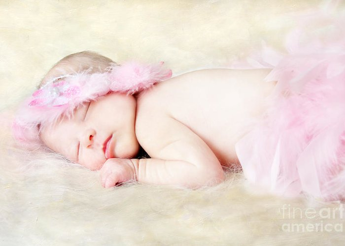 Adorable Greeting Card featuring the photograph Sweet Baby Girl by Darren Fisher